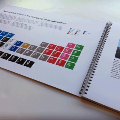 Grafisk design af katalog til arkitekter og designere