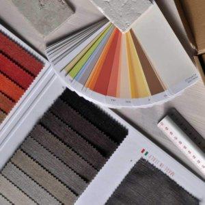 En visuel identitet inolverer farve- og materialevalg